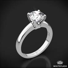 18k White Gold Broadway Solitaire Engagement Ring | Whiteflash