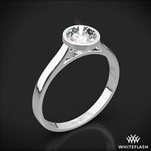 18k White Gold Cameron Solitaire Engagement Ring   Whiteflash