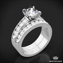 18k White Gold Cathedral Channel-Set Diamond Wedding Set | Whiteflash