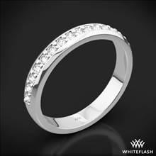 18k White Gold Cathedral Pave Diamond Wedding Ring | Whiteflash