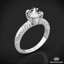 18k White Gold Champagne Petite Pave Diamond Engagement Ring | Whiteflash