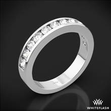 18k White Gold Channel-Set Diamond Wedding Ring | Whiteflash