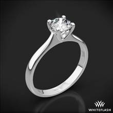 18k White Gold Comfort Fit Surprise Solitaire Engagement Ring | Whiteflash