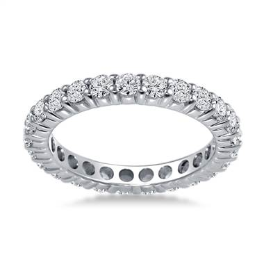 18K White Gold Common Prong Diamond Eternity Ring (1.15 - 1.35 cttw.)