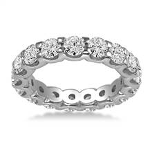 18K White Gold Common Prong Diamond Eternity Ring (2.80 - 3.40 cttw.) | B2C Jewels
