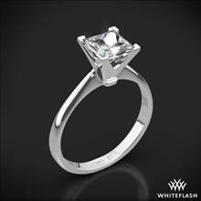 18k White Gold Contemporary Solitaire Engagement Ring for Princess | Whiteflash