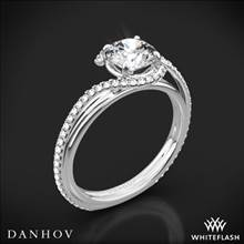 18k White Gold Danhov AE155 Abbraccio Diamond Engagement Ring | Whiteflash