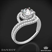 18k White Gold Danhov AE162 Abbraccio Diamond Engagement Ring | Whiteflash