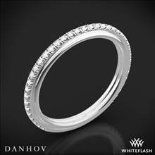 18k White Gold Danhov CB118-Q Classico Her Diamond Wedding Ring | Whiteflash