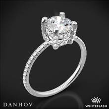 18k White Gold Danhov CL120 Classico Single Shank Diamond Engagement Ring | Whiteflash