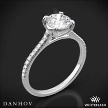 18k White Gold Danhov CL138 Classico Single Shank Diamond Engagement Ring | Whiteflash