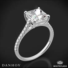 18k White Gold Danhov CL138P Classico Single Shank Diamond Engagement Ring for Princess | Whiteflash