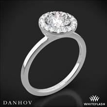 18k White Gold Danhov LE104 Per Lei Single Shank Halo Solitaire Engagement Ring | Whiteflash