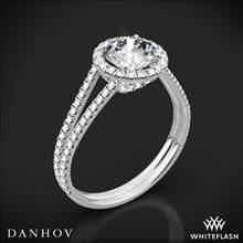 18k White Gold Danhov LE117 Per Lei Double Shank Diamond Engagement Ring | Whiteflash