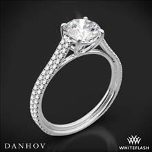 18k White Gold Danhov LE133 Per Lei Diamond Engagement Ring | Whiteflash