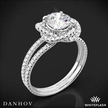18k White Gold Danhov SE100 Solo Filo Double Shank Diamond Engagement Ring | Whiteflash