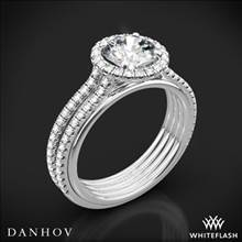 18k White Gold Danhov UE103 Unito Diamond with Two-Tone Rose Gold Engagement Ring | Whiteflash