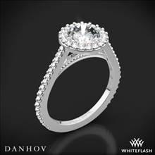 18k White Gold Danhov XE111 Carezza Diamond Halo Engagement Ring | Whiteflash