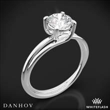 18k White Gold Danhov ZE100 Eleganza Braided Solitaire Engagement Ring | Whiteflash