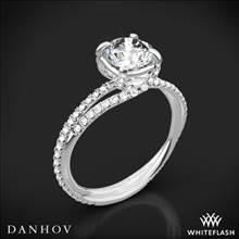 18k White Gold Danhov ZE101 Eleganza Diamond Engagement Ring | Whiteflash