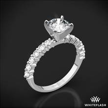 18k White Gold Diamonds for an Eternity Half Diamond Engagement Ring | Whiteflash