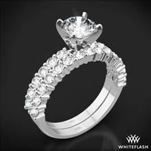 18k White Gold Diamonds for an Eternity Half Diamond Wedding Set | Whiteflash
