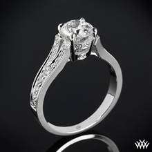 18k White Gold Divisi Diamond Engagement Ring | Whiteflash