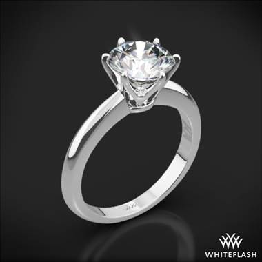 18k White Gold Elegant Solitaire Engagement Ring