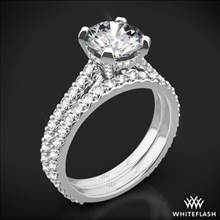 18k White Gold Elena Diamond Wedding Set | Whiteflash
