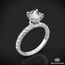 18k White Gold Eternity Wrap Diamond Engagement Ring | Whiteflash