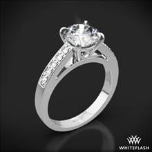 18k White Gold Flush-Fit Diamond Engagement Ring | Whiteflash