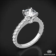 18k White Gold French-Set Diamond Engagement Ring | Whiteflash