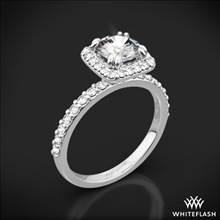 18k White Gold Guinevere Pave Diamond Engagement Ring | Whiteflash