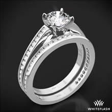 18k White Gold Honey Channel-Set Diamond Wedding Set | Whiteflash