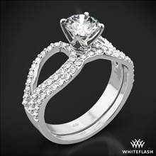 18k White Gold Infinity Diamond Wedding Set | Whiteflash