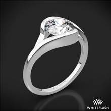 18k White Gold Iris Solitaire Engagement Ring | Whiteflash