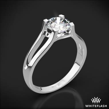 18k White Gold Katie Solitaire Engagement Ring