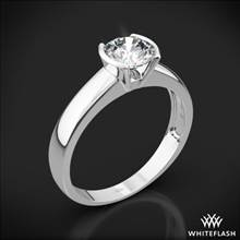 18k White Gold Keystone Solitaire Engagement Ring | Whiteflash
