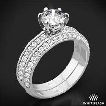 18k White Gold Knife-Edge Pave Diamond Wedding Set | Whiteflash