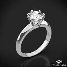 18k White Gold Knife-Edge Solitaire Engagement Ring | Whiteflash