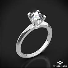 18k White Gold Knife-Edge Solitaire Engagement Ring for Princess | Whiteflash