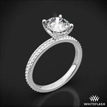 18k White Gold Legato Micro Pave Diamond Engagement Ring | Whiteflash