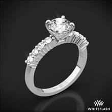 18k White Gold Legato Shared-Prong Diamond Engagement Ring | Whiteflash