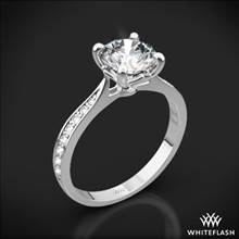 18k White Gold Legato Sleek Line Pave Diamond Engagement Ring | Whiteflash