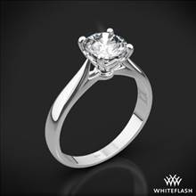 18k White Gold Legato Sleek Line Solitaire Engagement Ring | Whiteflash