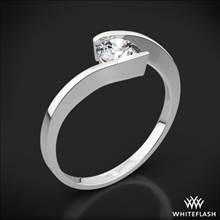 18k White Gold Lilly Solitaire Engagement Ring | Whiteflash