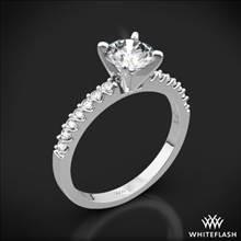 18k White Gold Petite Diamond Engagement Ring | Whiteflash
