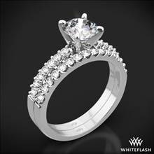 18k White Gold Petite Diamond Wedding Set | Whiteflash