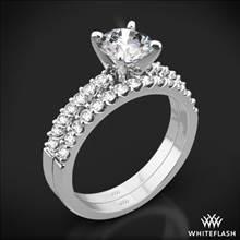 18k White Gold Petite Diamond Wedding Set   Whiteflash