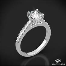 18k White Gold Petite Open Cathedral Diamond Engagement Ring | Whiteflash